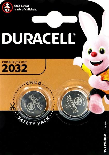 Duracell CR 2032 2 er Blister, 3,0 V