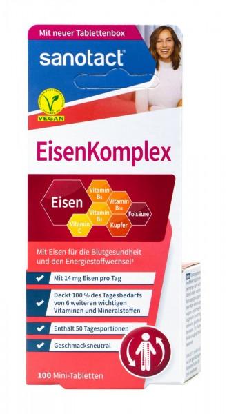 Sanotact Eisen Plus + B2 + B6 + B12 Minitabletten, 100 er
