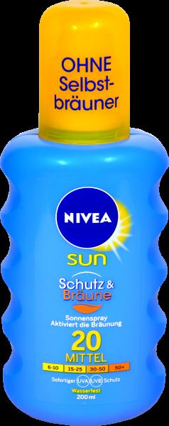 Nivea Sun Protect and Bronze Sonnenspray LSF 20, 200 ml