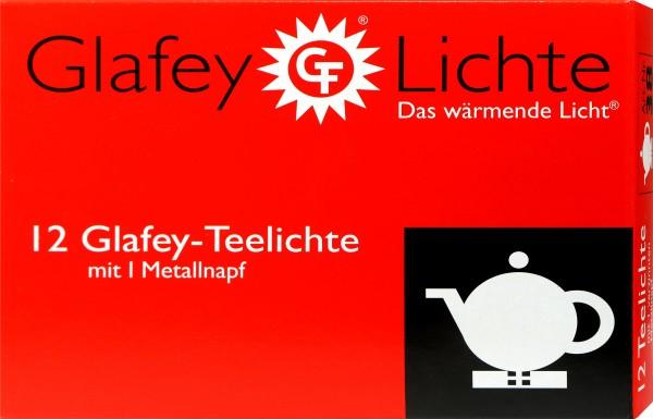 Teelichter Glafey Metallnapf, 12 er