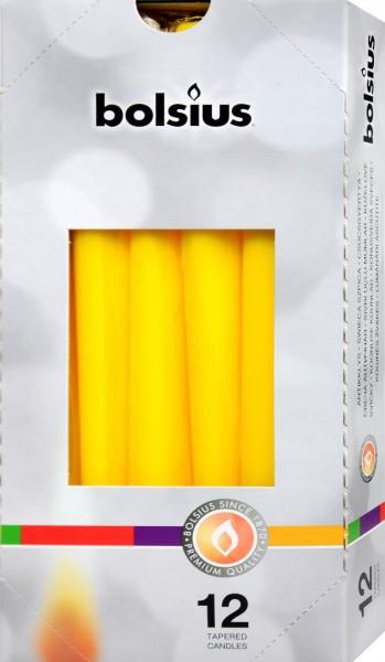 Bolsius Spitzkerze Gelb, 250 x 24 mm