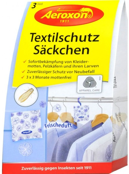 Aeroxon Textilschutz-Säckchen Frischeduft, 3 er