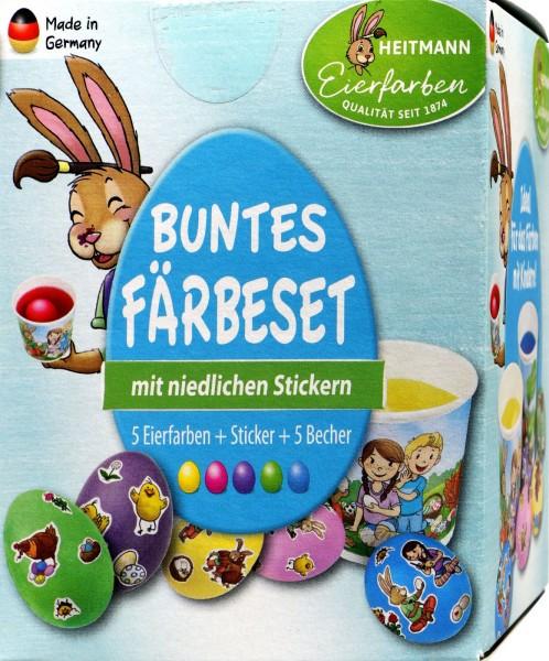 Eierfarbe Buntes Färbeset, Becher-Packung, 1007239