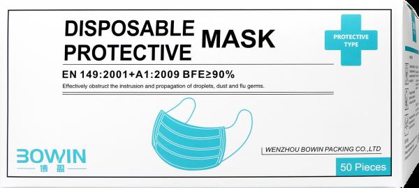 Mundschutz/Maske Hellblau, 1 Stück
