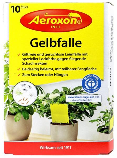 Aeroxon Gelbfalle für Topfpflanzen, 10 er