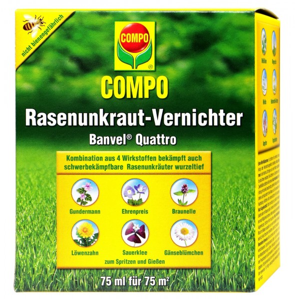 Compo Rasenunkrautvernichter Banvel Quattro, 75 ml