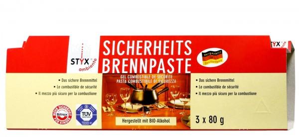 Styx Sicherheits-Brennpaste, 3x80 g