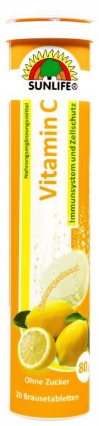 Sunlife Vitamin C Brausetabletten Immun-und Zellschutz, 20 er