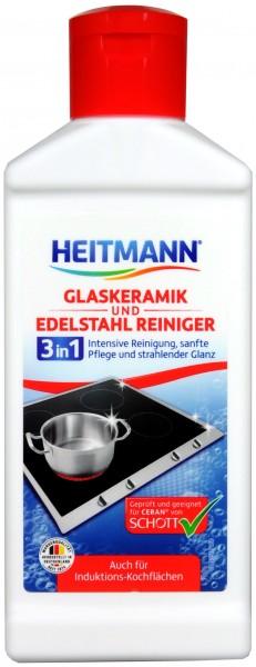Heitmann Glaskeramik und Edelstahl Reiniger, 250 ml
