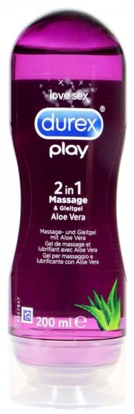 Durex Play Massage und Gleitgel Aloe Vera, 200 ml
