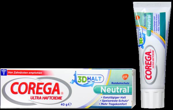 Corega Ultra 3D Haftcreme Neutral, 40 g