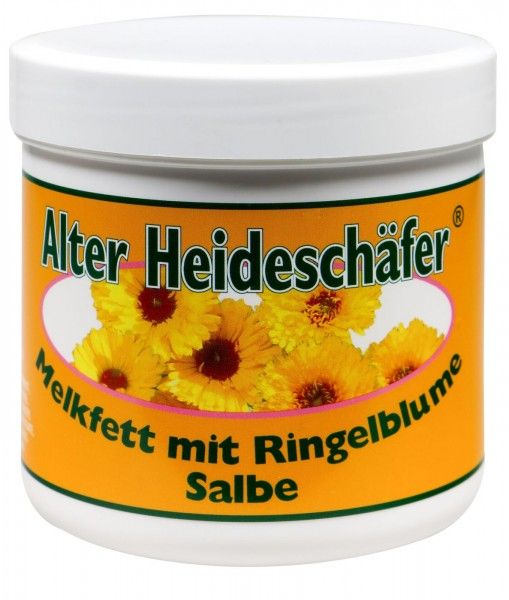 Alter Heideschäfer Melkfettsalbe mit Ringelblume, 250 ml