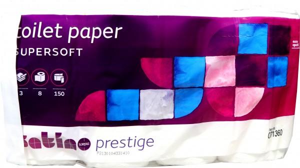 Satino Toilettenpapier Prestige Supersoft 3 lagig, 8x150 Blatt