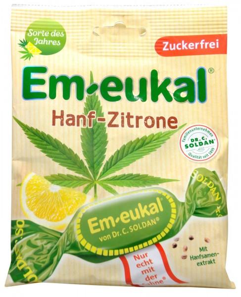 Em-Eukal Hanf-Zitrone Zuckerfrei, 75 g