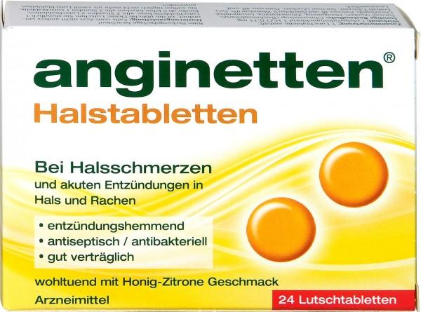 Anginetten Honig-Zitrone Lutschtabletten, 24 er