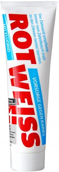 Rot-Weiss Zahncreme mit Fluor, 100 ml