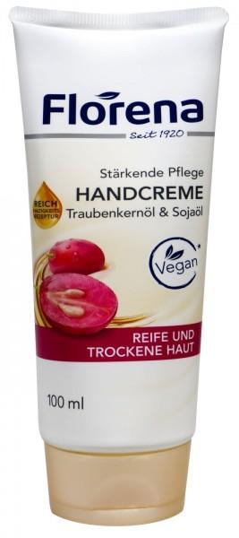 Florena Handcreme Traubenkernöl Tube, 100 ml