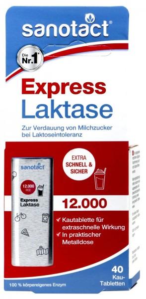 Sanotact Express Laktase 12.000 Kautabletten, 40 er