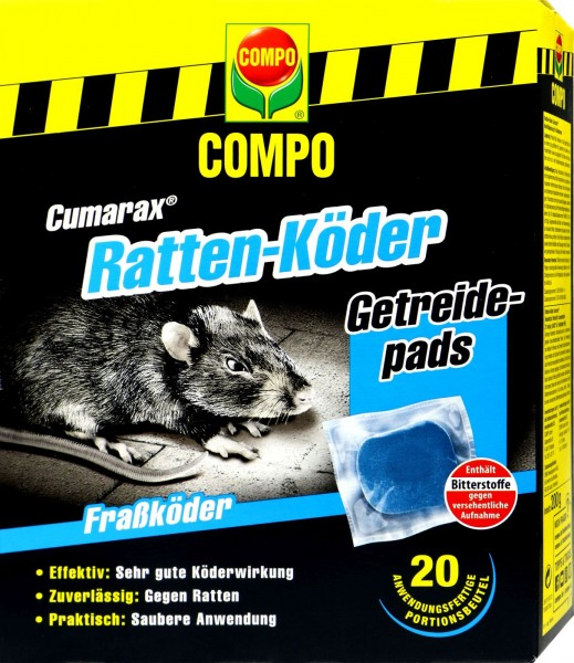Compo Rattenköder Cumarax, Getreidepads, 200 g