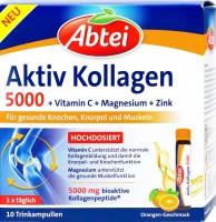 Abtei Aktiv Kollagen 5000 +Vitamin C + Magnesium + Zink, 10 er