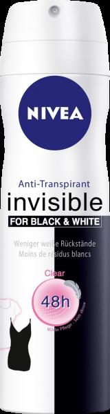 Nivea Deo Spray Invisible Black and White, 150 ml