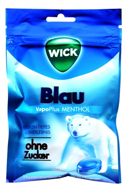 Wick Blau Menthol Zuckerfrei, 72 g