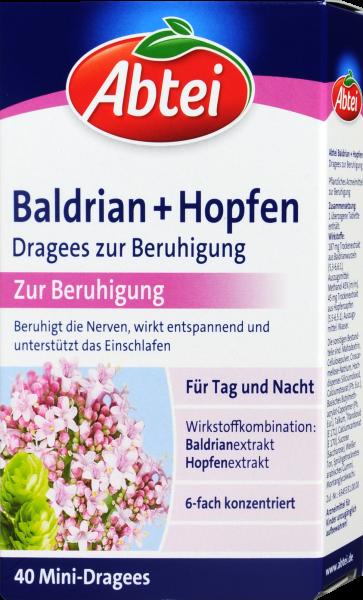Abtei Baldrian + Hopfen Dragees, 40 er