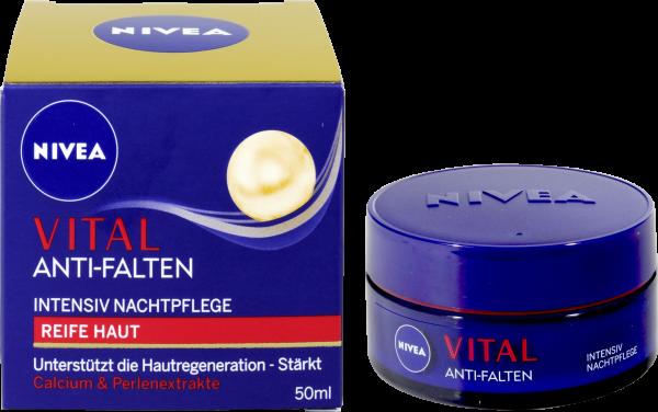 Nivea Vital Anti-Falten Nachtpflege, 50 ml - bie-dro