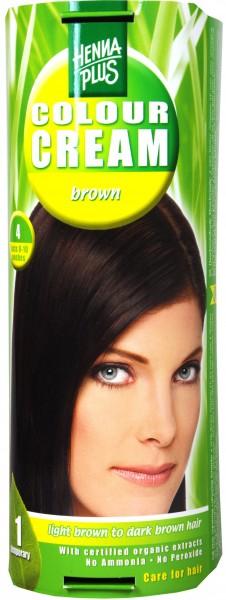 Hennaplus Colour Cream Braun, 4
