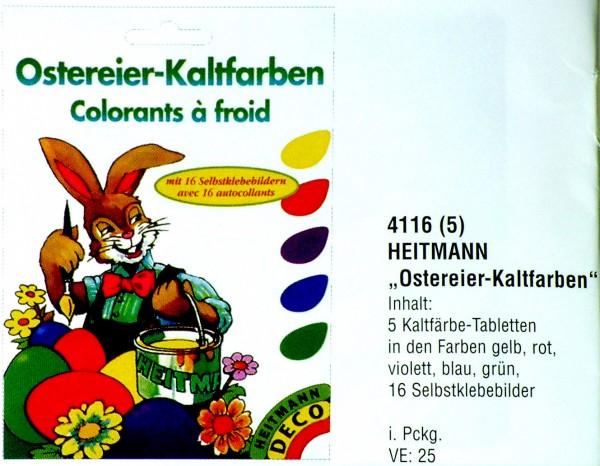 Eierfarbe Kaltfarben mit Selbstklebenden Bildern, 4116