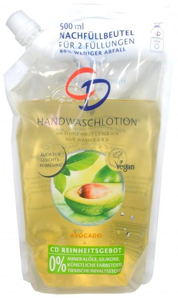 CD Waschlotion Avocado Nachfüllbeutel, 500 ml