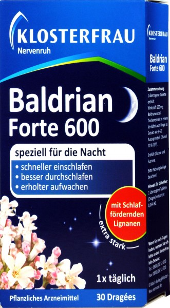 Nervenruh Baldrian Forte 600, 30 er