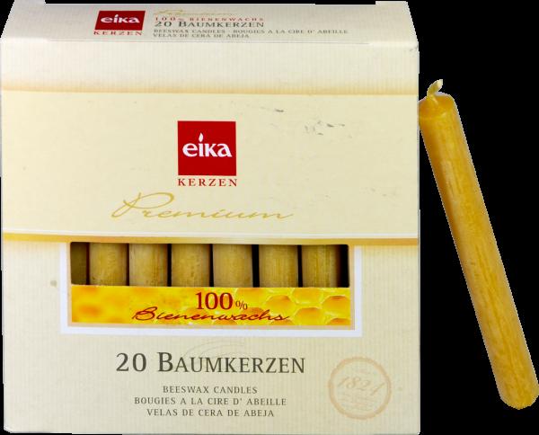 Eika Baumkerzen Bienenwachs 100%, 20 er