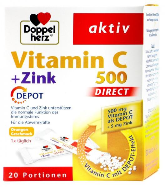 Doppelherz Vitamin C + Zink Depot, 20 er