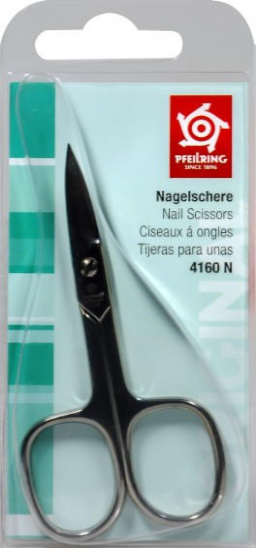 Pfeilring Nagelschere Gebogen, 9 cm