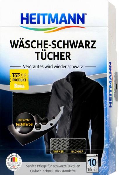 Heitmann Wäsche Schwarz Tücher, 10 er
