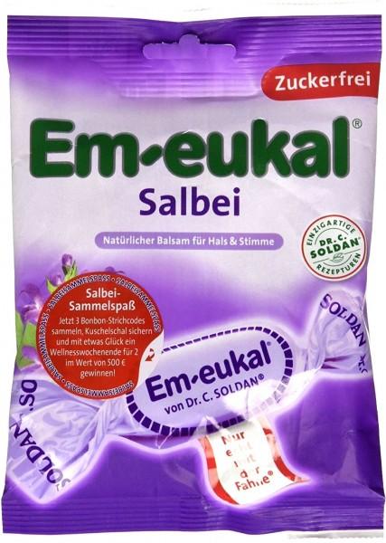 Em-Eukal Salbeibonbon Zuckerfei, 75 g