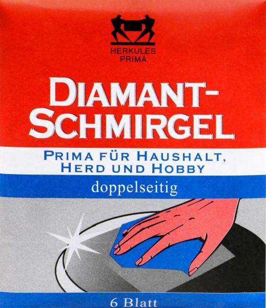 Herkules Diamant Schmirgel doppelseit.Haushalt, Herd, Hobby, 6 er