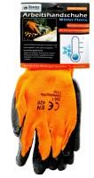 Arbeitshandschuh Schwarz / Orange mit Fütterung,Duty Heavy, Universal