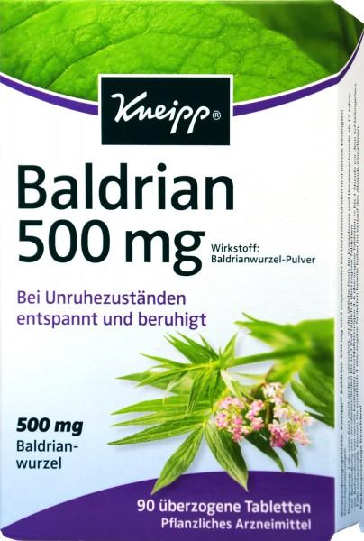 Kneipp Baldrian 500 mg, 90 er