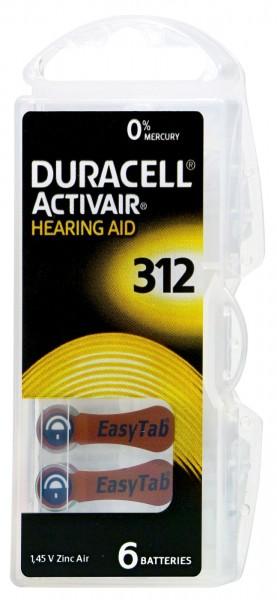 Duracell Hörgerätbatterie Braun DA 312, 1,4 V