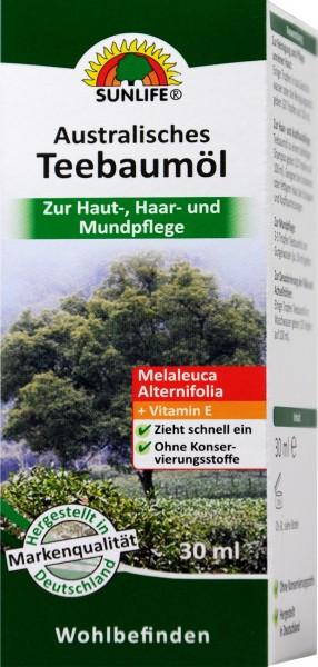 Sunlife Australisches Teebaumöl, 30 ml