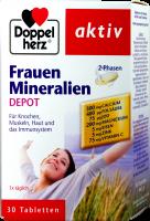 Doppelherz Frauen Mineralien 2 Phasen Depot, 30 er