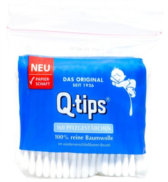 Q-Tips Wattestäbchen Papierschaft Nachfüllpack, 160 er