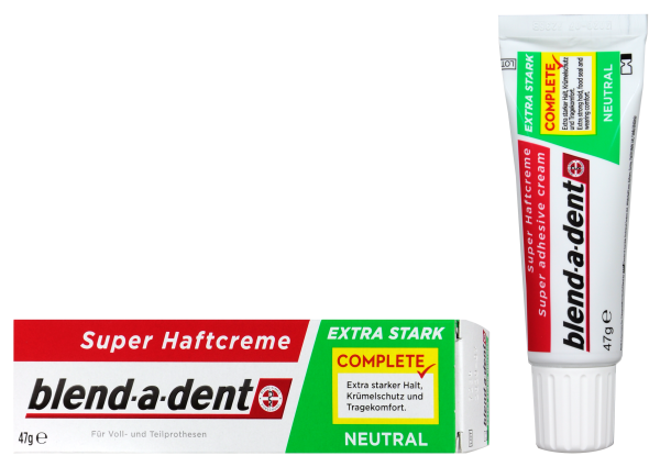Blend-a-Dent Super Haftcreme Extra Stark Neutral, 47 g