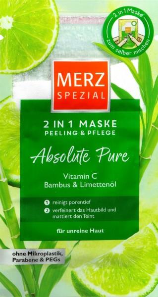 Merz Maske 2in1 Absolute Pure, 9 ml
