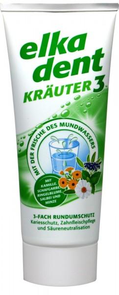 Elkadent Kräuter 3 Zahncreme, 75 ml