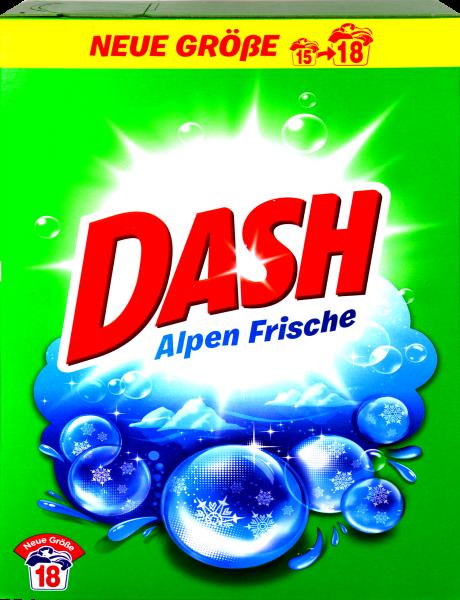 Dash Waschmittel Pulver 18 Wäschen, 1,17 kg