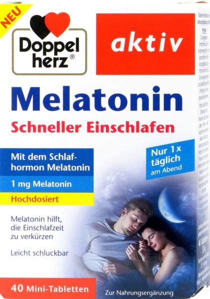 Doppelherz Melatonin Schneller Einschlafen hochdosiert, 40 er