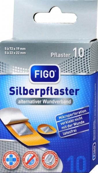 Figo Silberpflaster Antibakteriell, 10 er